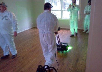 Lakování dřevěných podlah 05